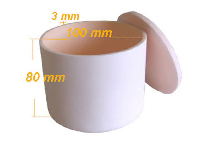 99.6 % Al2O3 Alumina Ceramic Crucible , Lvory High Purity Alumina Crucibles