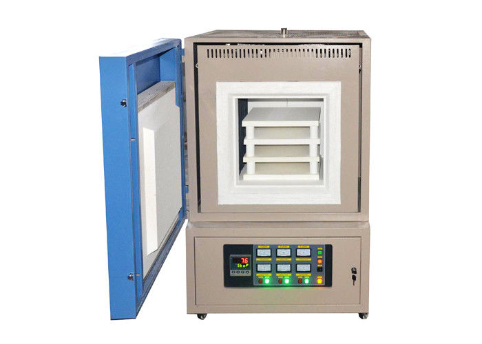 Programmable Electric Muffle Furnace , 1400 ℃ Industrial Chamber Furnace